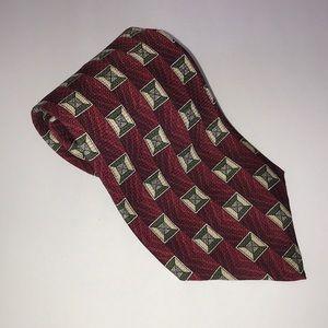 PARISIAN SIGNATURE Print Silk Necktie~Tie~USA